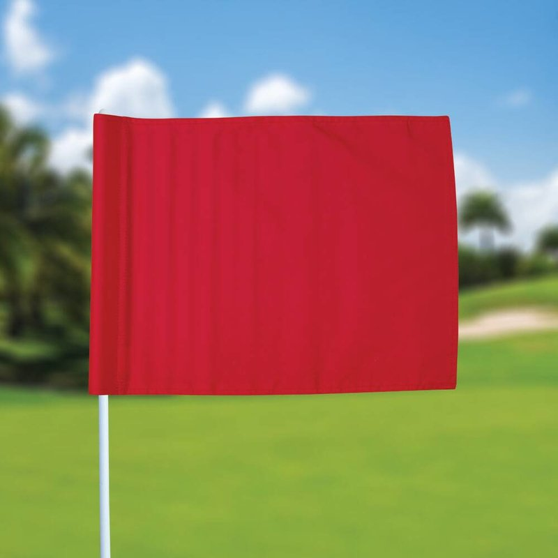 Golf flag, plain, red