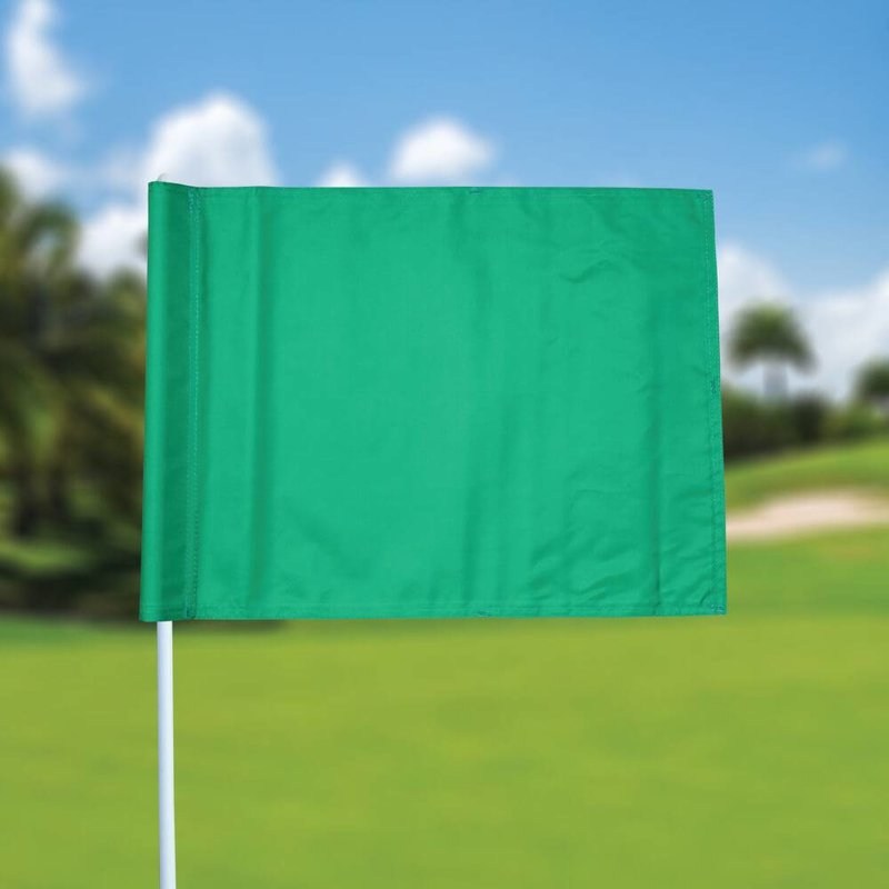 Golf flag, plain, green
