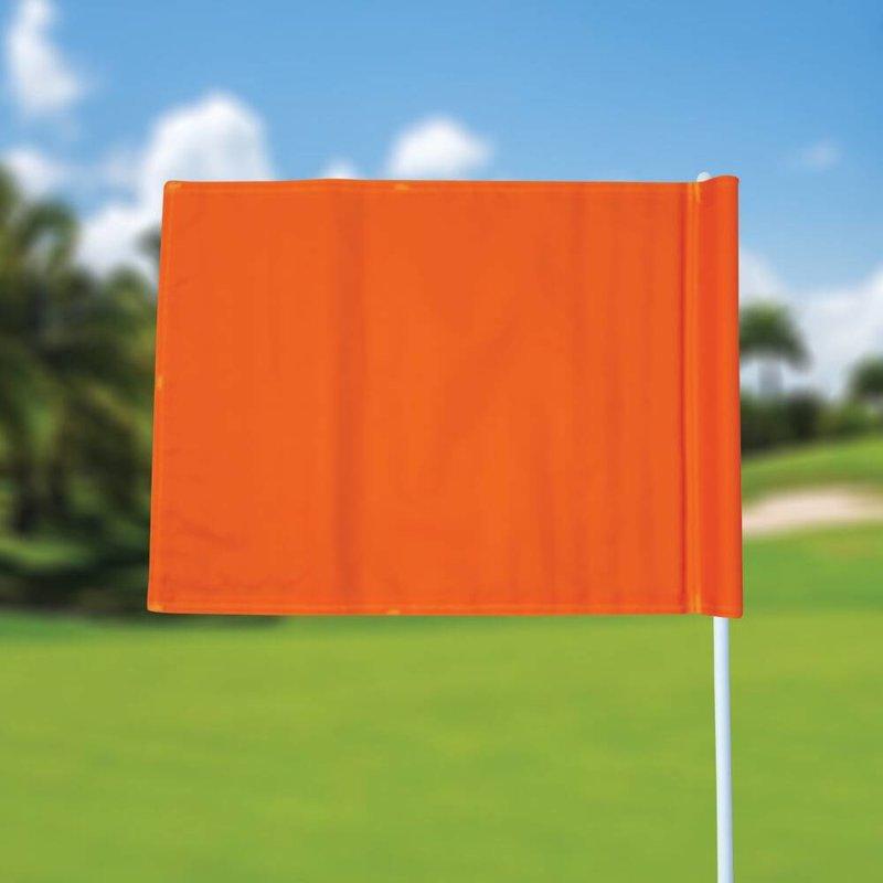 Golfvlag, effen, oranje