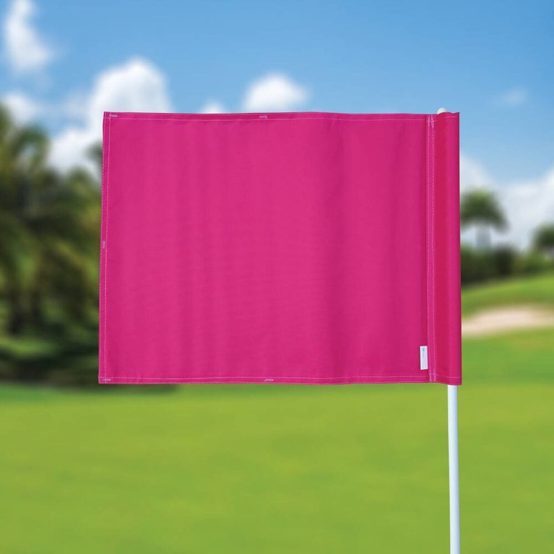 Golf flag, plain, pink