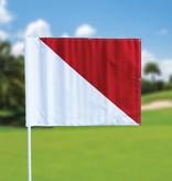 Golfvlag, semaphore, wit - rood