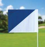Golf flag, semaphore, white - blue