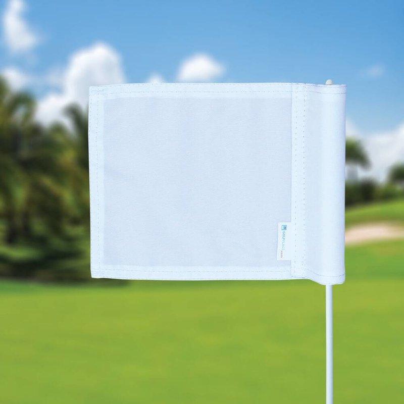 Putting green flag, plain, white