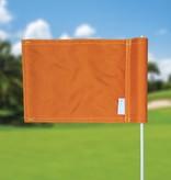 Putting green flag, plain, orange
