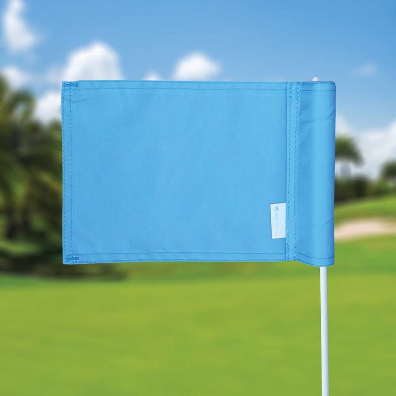 Putting green flag, plain, light blue