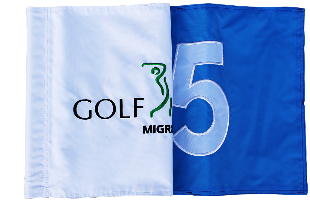 Close-up golf flag
