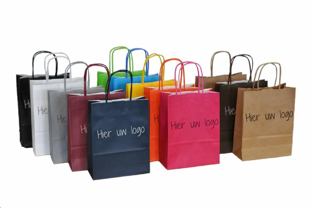 Tassen Action : Papieren draagtassen bedrukken in kleine oplage en snel
