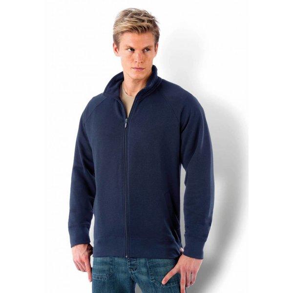 Sweat veste zippé ou boutonné