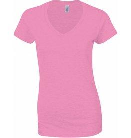 GILDAN tee-shirt col V femme 150gr manches courtes