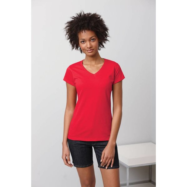 Tee-shirt femme col V manches courtes
