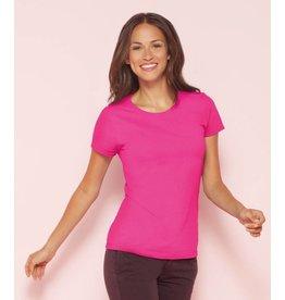 GILDAN tee-shirt femme col rond 180gr manches courtes