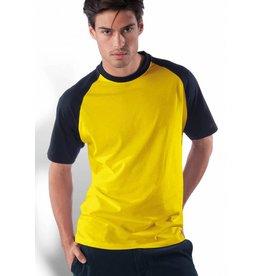 KARIBAN tee-shirt base-ball bicolore 165gr K330