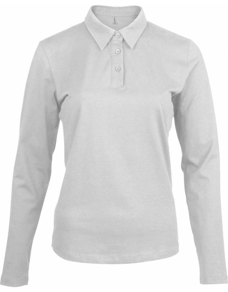5952b80f2ff55 ... kariban polo jersey femme manches longues