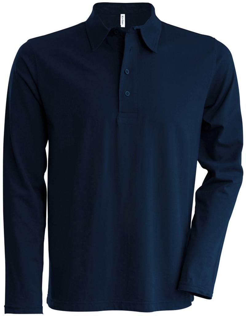 kariban polo jersey homme manches longues nibetex v tement de travail objets publicitaires. Black Bedroom Furniture Sets. Home Design Ideas