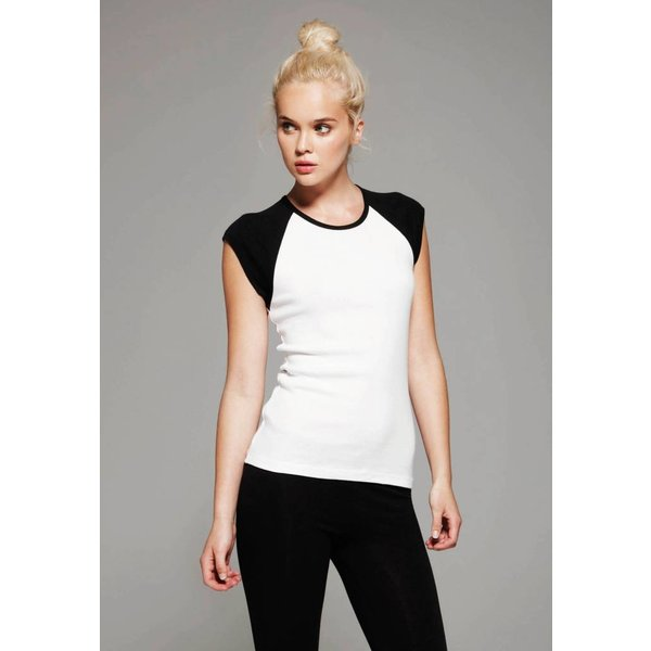 Tee-shirt femme bicolore