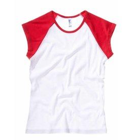 BELLA tee-shirt base-ball bicolore manches courtes