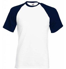 FRUIT OF THE LOOM tee-shirt base-ball bicolore