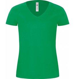 B&C tee-shirt femme col V blondie manches courtes