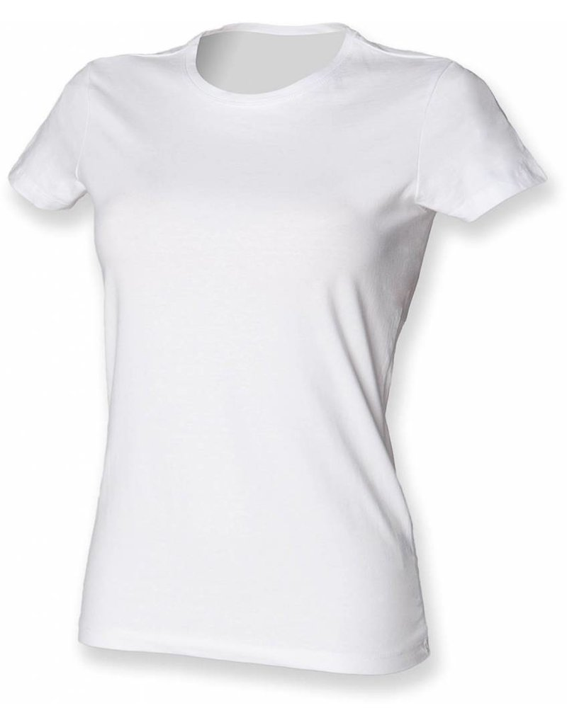 skinnifit tee-shirt femme élasthanne manches courtes