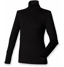 henbury tee-shirt femme col roulé manches longues