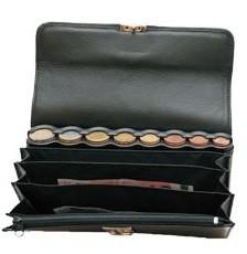 portefeuille serveur cuir zip