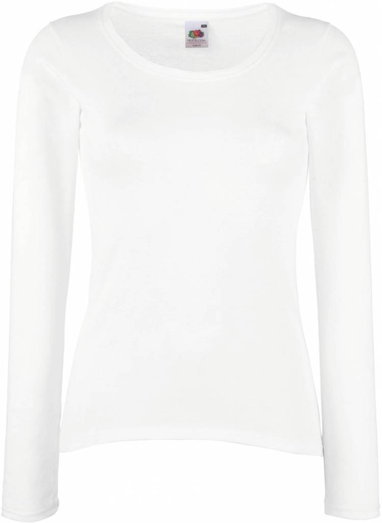 FRUIT OF THE LOOM tee-shirt femme valueweight 165gr manches longues