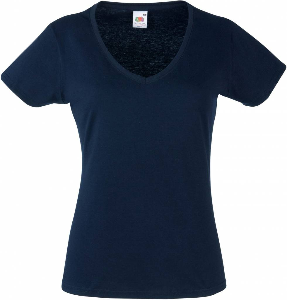 FRUIT OF THE LOOM tee shirt femme valueweight 165gr col V manches courtes