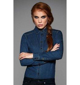 B&C chemise femme jean manches longues