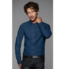 B&C chemise homme jean manches longues