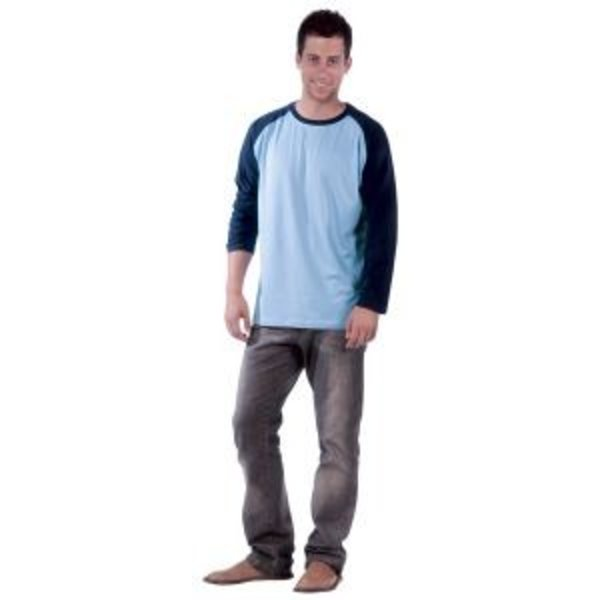 Tee-shirt homme bicolore manches longues