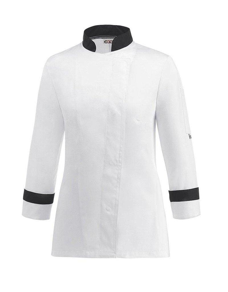 egochef veste cuisine femme bicolore - nibetex - vêtement de ... - Vetement Cuisine Femme