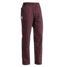 EGOCHEF pantalon cuisine élastique rouge rayures