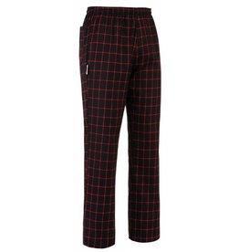EGOCHEF pantalon cuisine élastique carré rouge
