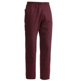 EGOCHEF pantalon cuisine élastique alfred rouge