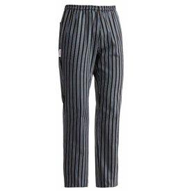 EGOCHEF pantalon cuisine élastique rayures gris