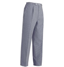 EGOCHEF pantalon cuisine unisexe petits carreaux bleu