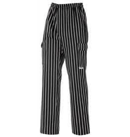 EGOCHEF pantalon cuisine rayures avec cordon de serrage