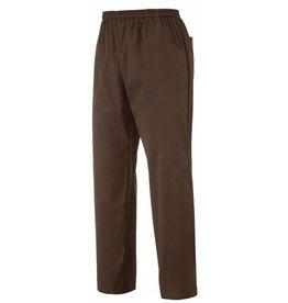 EGOCHEF pantalon avec cordon de serrage chocolat