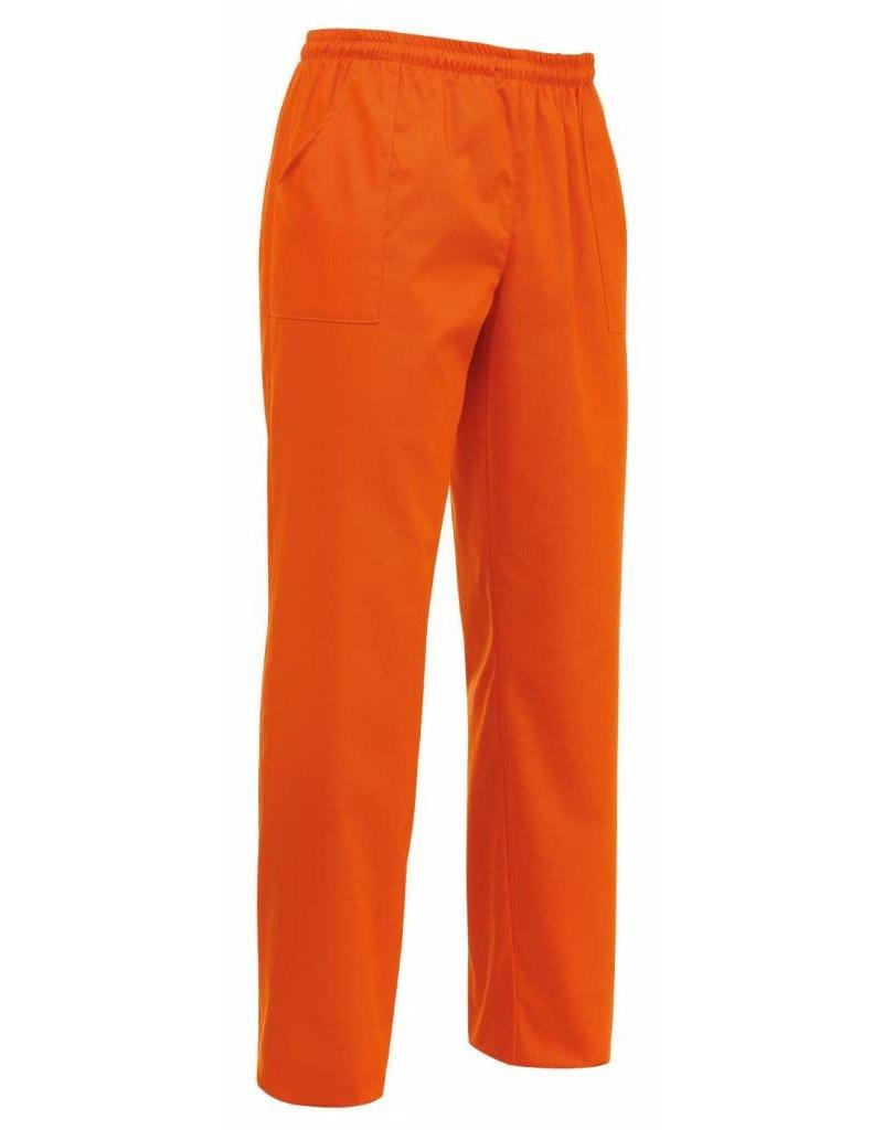 Egochef pantalon avec cordon de serrage orange   nibetex ...