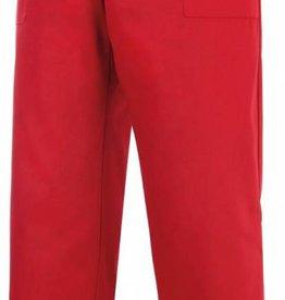 EGOCHEF pantalon avec cordon de serrage rouge