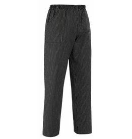 EGOCHEF pantalon cuisine avec cordon de serrage rayures