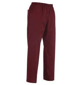 EGOCHEF pantalon avec cordon de serrage bordeaux