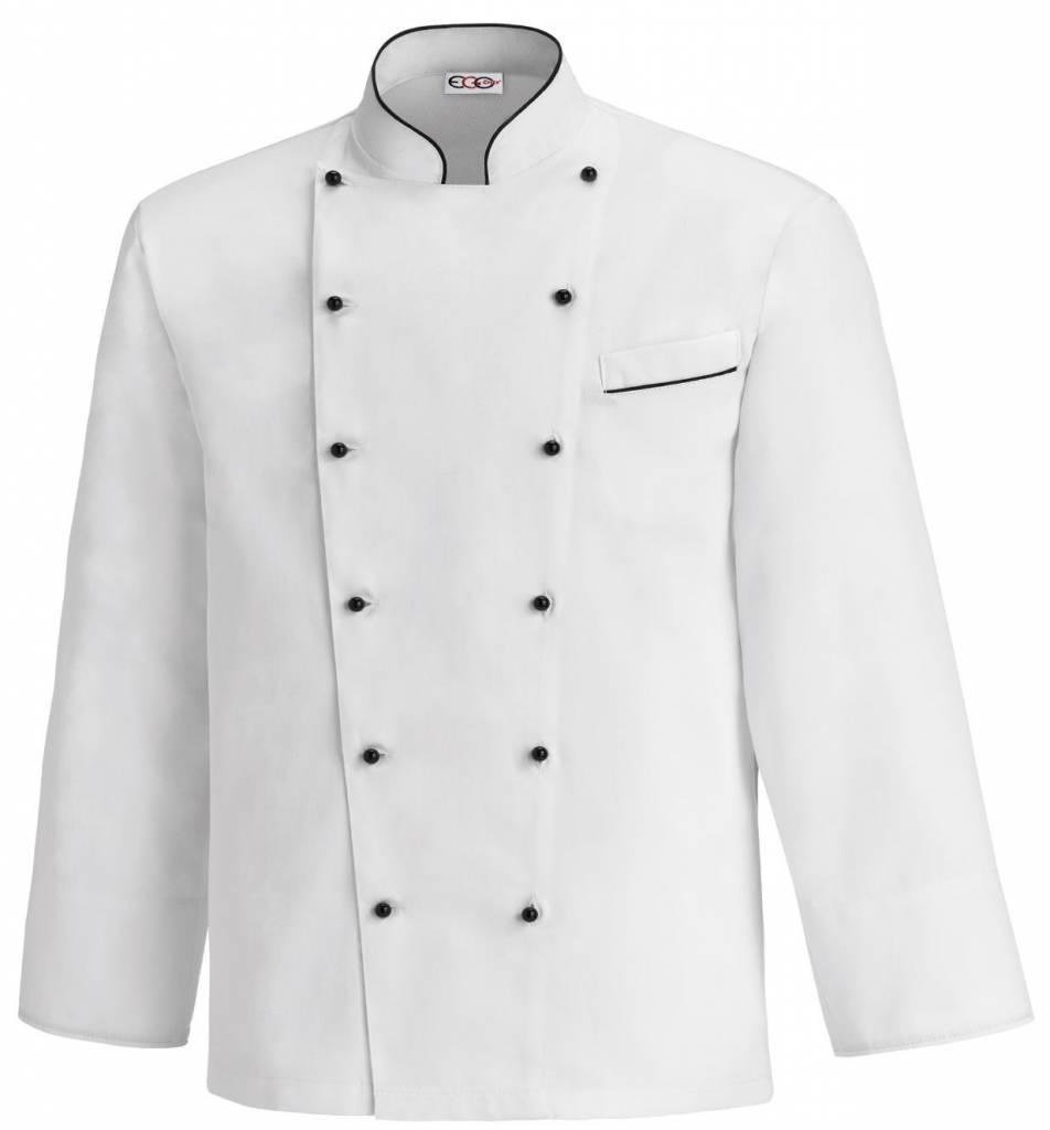 Egochef veste cuisine grande taille bicolore nibetex - Broderie veste de cuisine ...