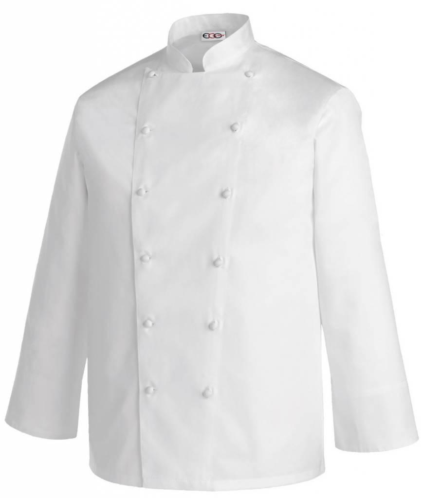 Egochef veste cuisine grande taille blanc nibetex - Broderie veste de cuisine ...