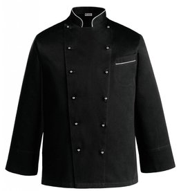 EGOCHEF veste cuisine grande taille noire/grise