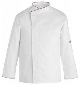 EGOCHEF veste cuisine grande taille blanc contrastée