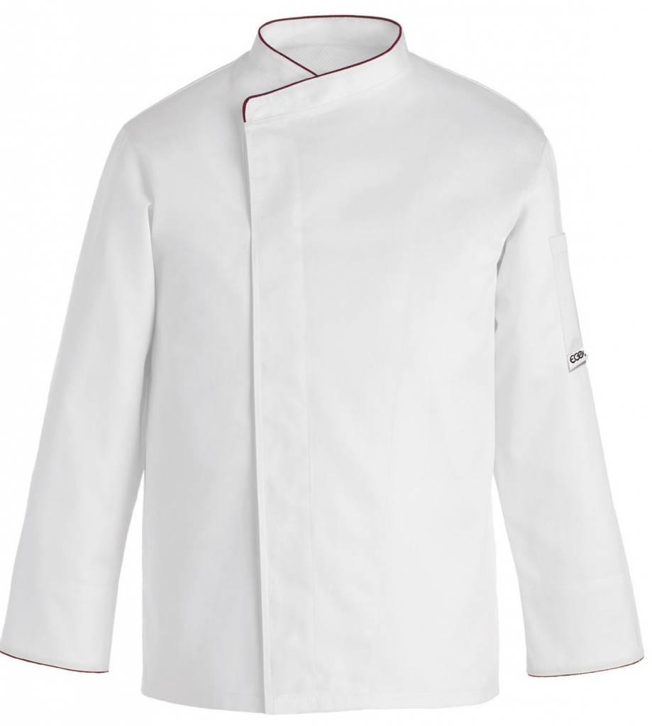 Egochef veste cuisine grande taille blanc contrast e - Broderie veste de cuisine ...