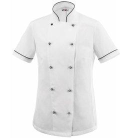 EGOCHEF veste cuisine femme contrastée piqué