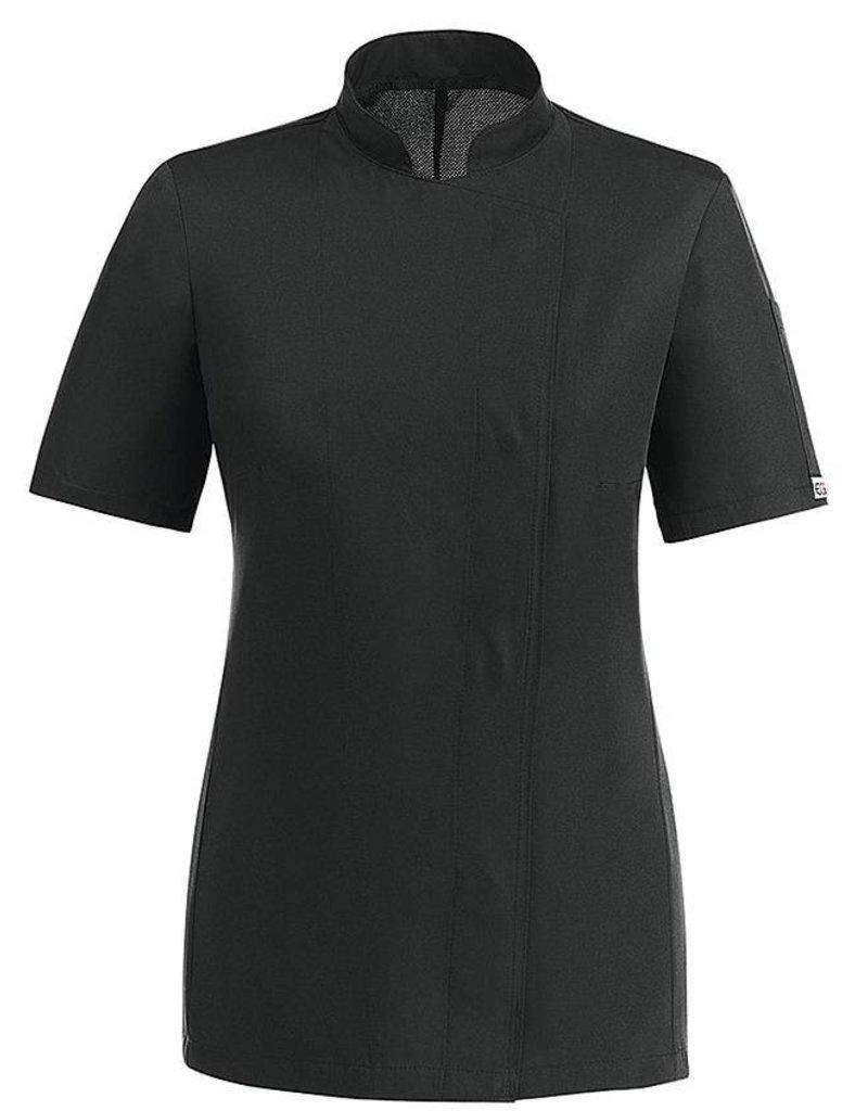 veste cuisine femme noir veste de cuisine noir blanc homme et femme polyest veste de cuisine noir bl. Black Bedroom Furniture Sets. Home Design Ideas