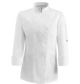 EGOCHEF veste cuisine femme blanche manches longues